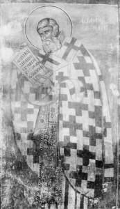 СВТ. АФАНАСИЙ АЛЕКСАНДРИЙСКИЙ. ФРЕСКА ЦЕРКВИ СВ. КЛИМЕНТА. ОХРИД. 1378 г.