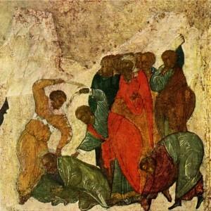 ИЗБИЕНИЕ АПОСТОЛА ИОАННА БОГОСЛОВА. КЛЕЙМО ИКОНЫ СВ. ИОАНН БОГОСЛОВ В ЖИТИИ. XVI в.