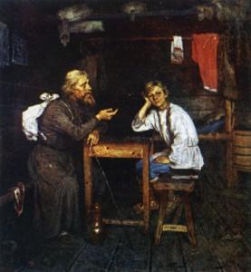 БУДУЩИЙ ИНОК. ХУД. Н. П. БОГДАНОВ-БЕЛЬСКИЙ. 1889 г.