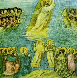 ВОЗНЕСЕНИЕ ХРИСТА. 1304-1306 гг. ХУД. ДЖОТТО. КАПЕЛЛА СКРОВЕНЬИ. ПАДУЯ