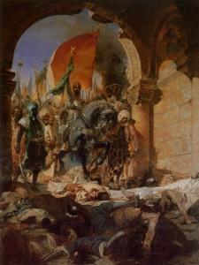 ВСТУПЛЕНИЕ СУЛТАНА МЕХМЕДА II В КОНСТАНТИНОПОЛЬ В 1453 г. ХУДОЖНИК Б КОНСТАН. 1876 г.