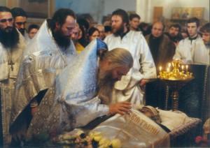 ПРОЩАНИЕ С ТЕЛОМ УСОПШЕЙ В ХРАМЕ