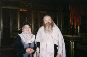 ОТЕЦ ВАЛЕРИЙ И МАТУШКА МАРГАРИТА В ХРАМЕ