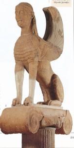 СТАТУЯ СФИНКСА. 570-560 гг. до Р. Х. ДЕЛЬФЫ