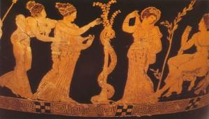 ГЕРАКЛ В САДУ ГЕСПЕРИД. 410 г. до Р. Х. БРИТАНСКИЙ МУЗЕЙ