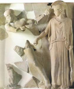 ГЕРАКЛ ОЧИЩАЕТ АВГИЕВЫ КОНЮШНИ. 475 г. до Р. Х. ОЛИМПИЯ