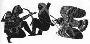 ГЕРАКЛ ОСВОБОЖДАЕТ ПРОМЕТЕЯ. КРАТЕР. 610 г. до Р. Х. АФИНЫ