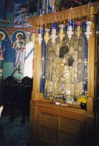 ВРАТАРНИЦА АФОНА В ИВЕРСКОМ МОНАСТЫРЕ. 1999 г.