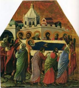 ДУЧЧО ДИ БОНИСЕНЬЯ (1278 – 1318-19). ПОГРЕБЕНИЕ БОГОМАТЕРИ. СИЕНА
