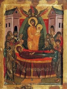 УСПЕНИЕ БОГОМАТЕРИ. ИКОНА XV в. ОСТРОВ ПАТМОС