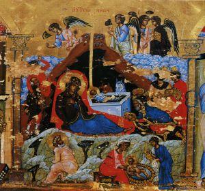 РОЖДЕСТВО ХРИСТОВО. ИКОНА. XII в. СИНАЙ