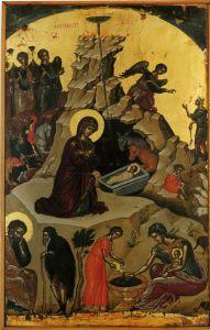 РОЖДЕСТВО ХРИСТОВО. ИКОНА 1546 г. АФОН. МОНАСТЫРЬ СТАВРОНИКИТА