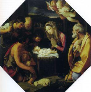 ПОКЛОНЕНИЕ ПАСТУХОВ. ХУД. ГВИДО РЕНИ (1575-1642). ГМИИ. МОСКВА