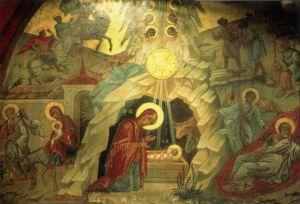 ВИФЛЕЕМ. БАЗИЛИКА РОЖДЕСТВА ХРИСТОВА. ЗАПРЕСТОЛЬНАЯ ИКОНА РОЖДЕСТВА ХРИСТОВА