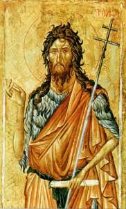 СВ. ИОАНН ПРЕДТЕЧА. ИКОНА XIV в. СЕРБИЯ