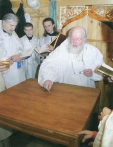 ПСКОВО-ПЕЧЕРСКИЙ МОНАСТЫРЬ. ОСВЯЩЕНИЕ ХРАМА В ЧЕСТЬ ПРП. СИМЕОНА ПСКОВО-ПЕЧЕРСКОГО. 13 НОЯБРЯ 2005 г.