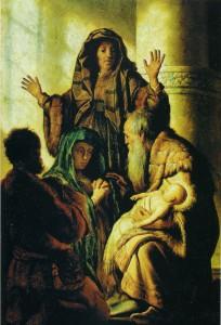 СРЕТЕНИЕ ГОСПОДНЕ. 1627-1628 гг. ХУД. РЕМБРАНДТ. ГАМБУРГ