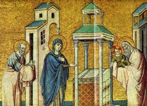 СРЕТЕНИЕ ГОСПОДНЕ. ХУД ЧИМАБУЭ (1240-45 - 1302 гг.). РИМ