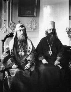 ПАТРИАРХ ТИХОН И МИТРОПОЛИТ ПЕТРОГРАДСКИЙ ВЕНИАМИН (КАЗАНСКИЙ). ПЕТРОГРАД. 1918 г.