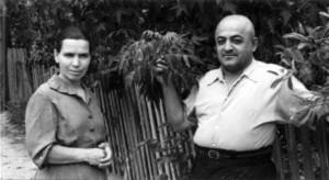 СЛОБОДЗЕЯ. МАРИЯ СЕРГЕЕВНА С СУПРУГОМ. 1959 г.