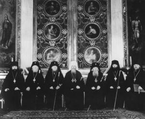 УЧАСТНИКИ ЕПИСКОПСКОЙ ХИРОТОНИИ ВЛАДЫКИ ПРОКЛА. 1987 г.