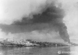 ВИД С ВОЛГИ НА СТАЛИНГРАД. 1941 г.