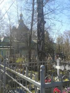 МОГИЛА ИВАНА ПЕТРОВИЧА ПЕТРОВА НА СЕРАФИМОВСКОМ КЛАДБИЩЕ СПб.