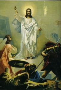 ХРАМ ВОСКРЕСЕНИЯ ХРИСТОВА НА БЫВШЕМ СЕМЕНОВСКОМ КЛАДБИЩЕ. ФРЕСКА ВОСКРЕСЕНИЕ ХРИСТОВО. 1901 г. МОСКВА