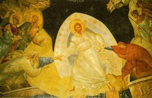 ВОСКРЕСЕНИЕ ХРИСТОВО. ФРЕСКА ХРАМА ХОРА. КОНСТАНТИНОПОЛЬ