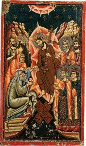 ВОСКРЕСЕНИЕ ХРИСТОВО (СОШЕСТВИЕ ВО АД). ИКОНА XIII в. СИНАЙ