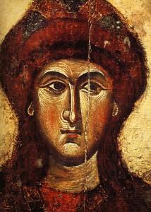 СВЯТОЙ ГЛЕБ. ФРАГМЕНТ ИКОНЫ (1301-1325)