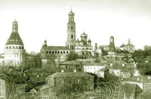 СИМОНОВ МОНАСТЫРЬ. ФОТО 1882 г.