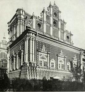 ХРАМ ТИХВИНСКОЙ ИКОНЫ БОЖИЕЙ МАТЕРИ СИМОНОВА МОНАСТЫРЯ. ФОТО 1914 г.