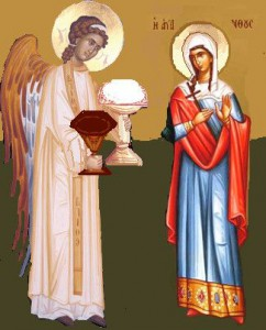 Св. мц. Мария Голиндуха и Ангел. Икона