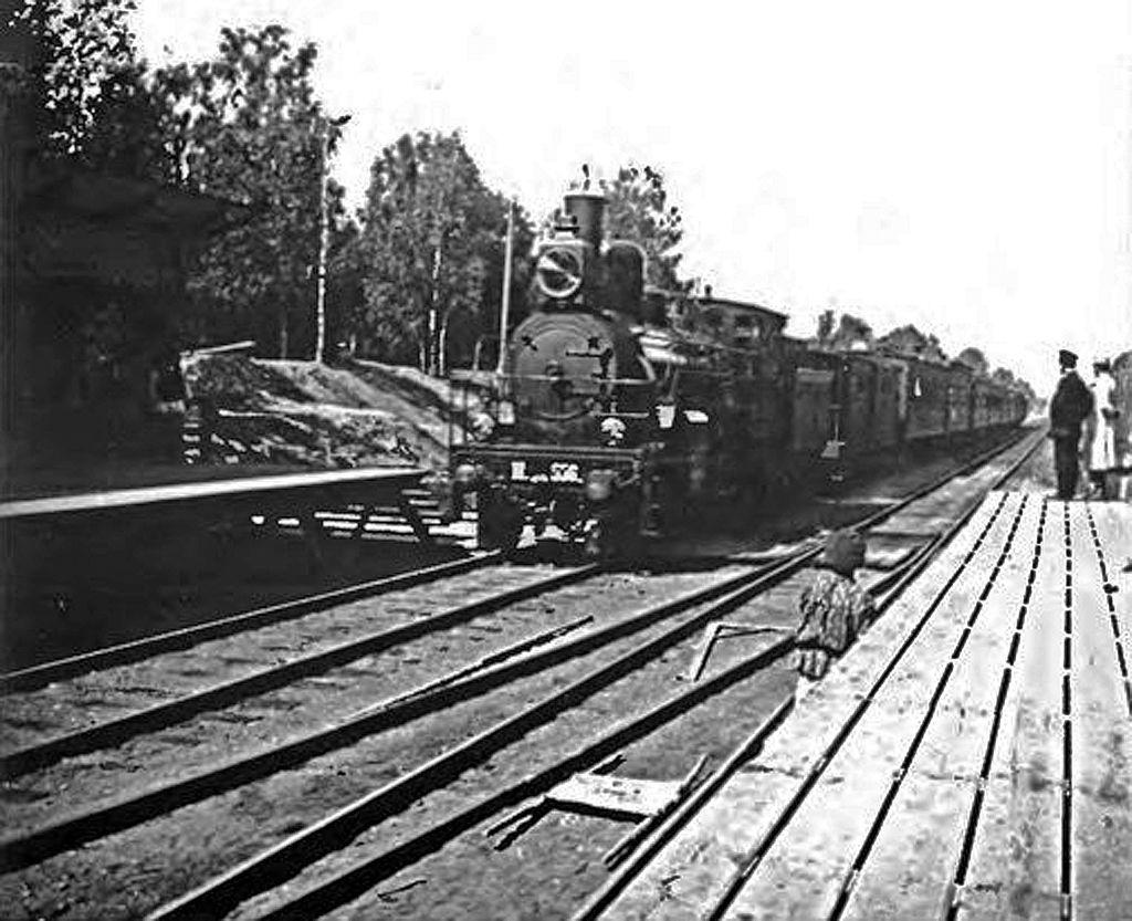 СХОДНЯ. СТАНЦИЯ. 1902 г.