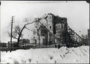 ОРЕНБУРГ. РАЗБОР КАЗАНСКОГО СОБОРА ПОСЛЕ ВЗРЫВА. 1932 г.