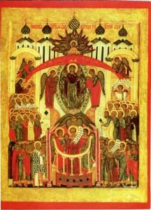 ПОКРОВ ПРЕСВЯТОЙ БОГОРОДИЦЫ. ИКОНА XVI в. СРЕДНЯЯ РУСЬ
