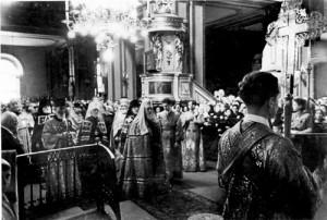 1945-1950 ГОДЫ. ПАТРИАРХ АЛЕКСИЙ I В НИКОЛЬСКОМ СОБОРЕ
