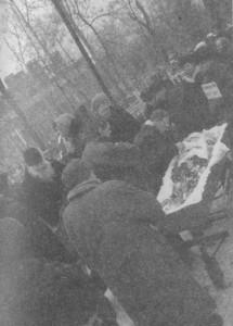 МОСКВА. КАЛИТНИКОВСКОЕ КЛАДБИЩЕ. ПРОЩАНИЕ С А. Н. РЫБАЛКО. 11 ЯНВАРЯ 2000 г.
