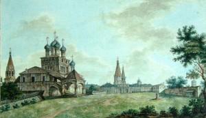 ВИД СЕЛА КОЛОМЕНСКОЕ, 1800 г.