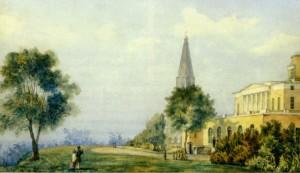 В КОЛОМЕНСКОМ. 1825 г. РИСУНОК XIX в.