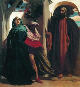 АХАВ И ИЕЗАВЕЛЬ ПЕРЕД ПРОРОКОМ ИЛИЕЙ ПОСЛЕ УБИЙСТВА НАВУФЕЯ