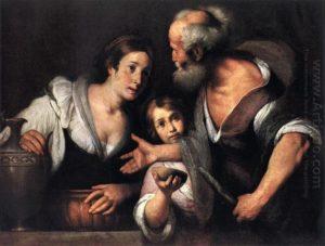 ПРОРОК ИЛИЯ И ВДОВА САРЕПТСКАЯ. ХУД. БЕРНАРДО СТРОЦЦИ (1581–1664)