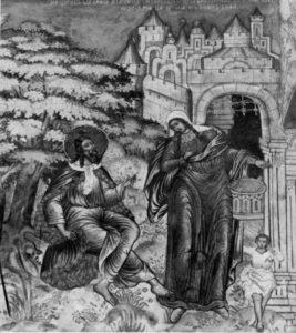 ПРОРК ИЛИЯ И САРЕПТСКАЯ ВДОВА. РОСПИСЬ ЦЕРКВИ ИЛИИ ПРОРОКА В ЯРОСЛАВЛЕ. 1680–1681 гг.