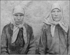 ПОСЛЕДНЯЯ ИГУМЕНИЯ МОНАСТЫРЯ НИНА (ЛЕВАШЕВА) И ЕЕ ПОМОЩНИЦА НИНА. 1929 г.