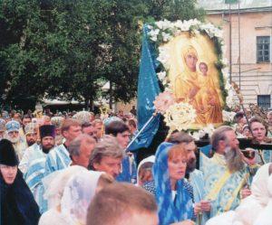 СМОЛЕНСК. КРЕСТНЫЙ ХОД С ИКОНОЙ БОЖИЕЙ МАТЕРИ СМОЛЕНСКОЙ
