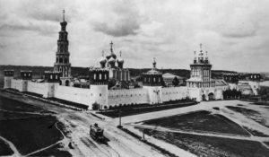 МОСКВА. НОВОДЕВИЧИЙ МОНАСТЫРЬ. ФОТО 1913 г.