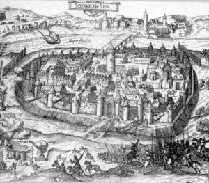ВИД СМОЛЕНСКА. ГРАВЮРА ГЕОРГА КЕЛЛЕРА. 1610 г.