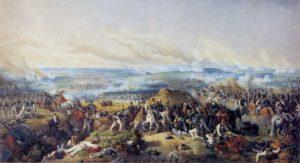 БОРОДИНСКОЕ СРАЖЕНИЕ 26 АВГУСТА 1812 г. РАСКРАШЕННАЯ ЛИТОГРАФИЯ ВИКТОРА