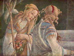 ДОЧЕРИ ИОФОРА. ФРАГМЕНТ ФРЕСОК СИКСТИНСКОЙ КАПЕЛЛЫ. ХУД. САНДРО БОТТИЧЕЛЛИ (1445–1510)